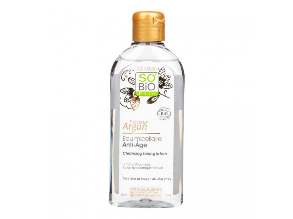 Voda micelární Anti-Age Precieux 200 ml BIO Argan SO'BiO étic