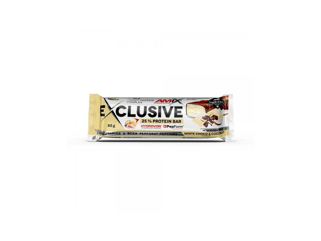 Exclusive Protein bar Bílá čoko-Kokos 85 g
