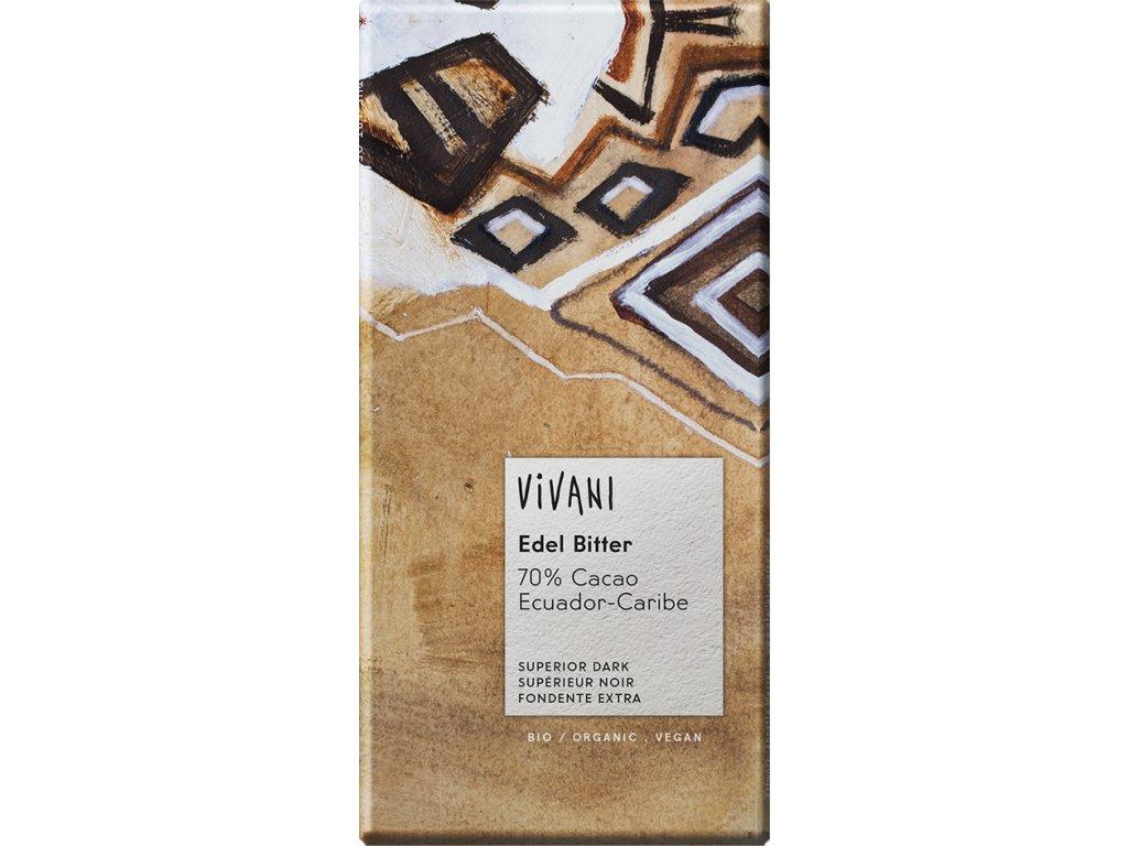 Hořká čokoláda 70% Ekvádor VIVANI 100 g BIO