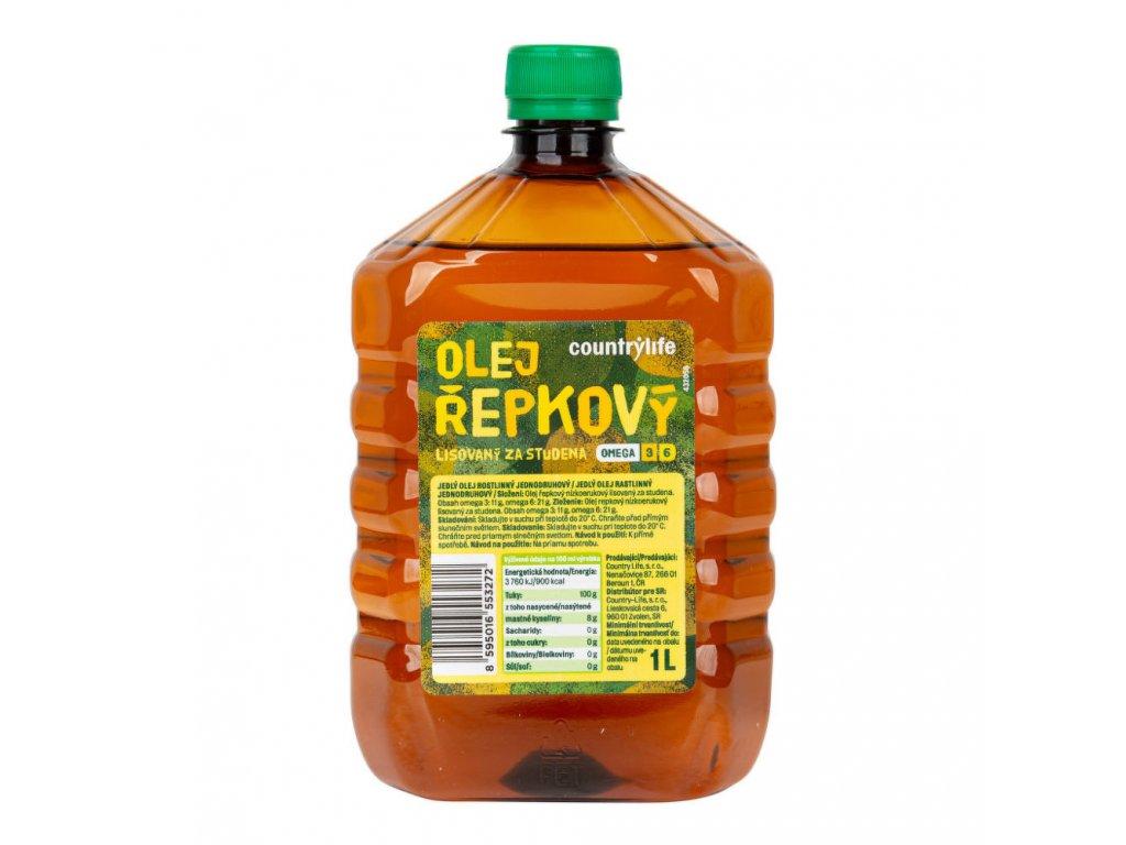 Olej řepkový omega 3 a 6 COUNTRY LIFE BIO 1 l