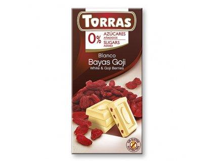 Čokolada bílá s goji TORRAS 75 g