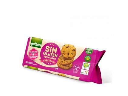 Bezlepkové sušenky Chip choco GULLON 130 g