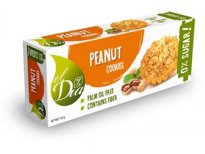 Cookies arašidové bez cukru el Dia 150 g