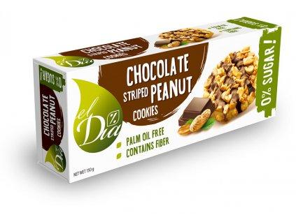 Cookies čokoláda s arašídy bez cukru el Dia 150 g