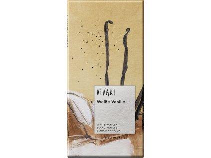 Bílá čokoláda s vanilkou VIVANI 80 g BIO