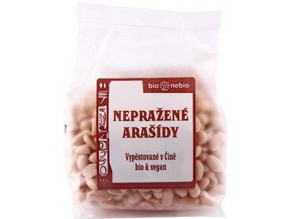 Arašídy loupané nepražené bio*nebio 200 g BIO