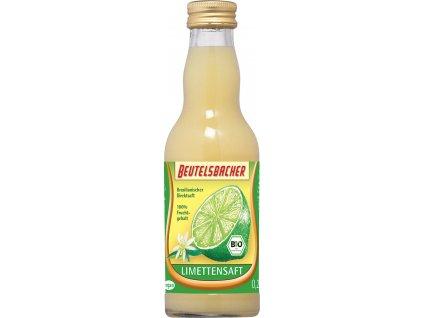 Limetková šťáva 100% Beutelsbacher 0,2 l BIO