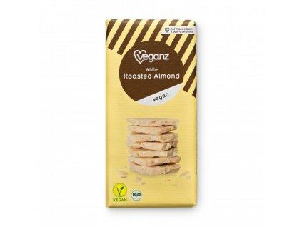 Veganz bílá čokoláda s praženými mandlemi 80 g BIO VEGAN