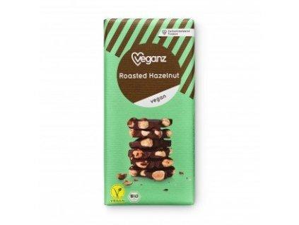 Veganz čokoláda s praženými lískovými ořechy 80 g BIO VEGAN