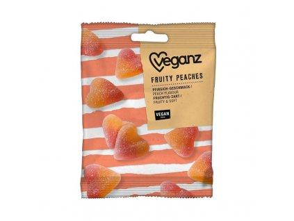 Veganz broskvová gumová srdíčka 100 g VEGAN