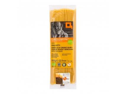 Těstoviny špagety semolinové 1,7 mm GIROLOMONI BIO 500 g