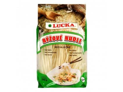 Těstoviny nudle rýžové bezlepkové LUCKA 240 g