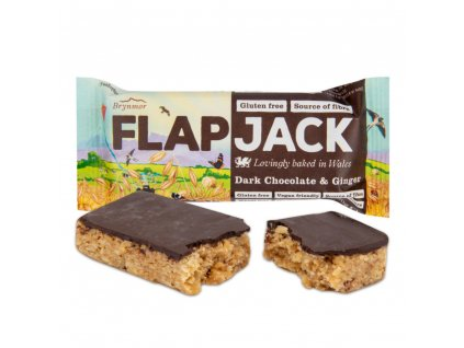 Flapjack ovesný čokoláda se zázvorem bezlepkový WHOLEBAKE 80 g