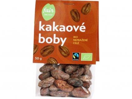 Kakaové boby celé nepražené BIO Hispaniola, Dominikánská republika 50 g
