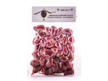 Černé olivy Kalamata vakuum 150 g