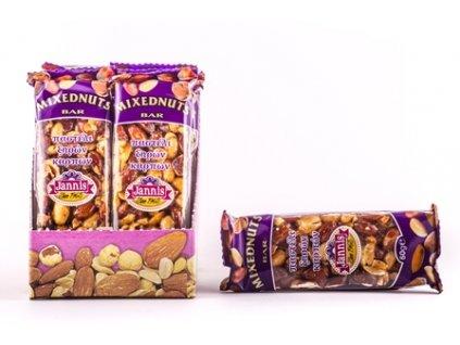 Tyčinka Mix ořechů 40 g JANNIS