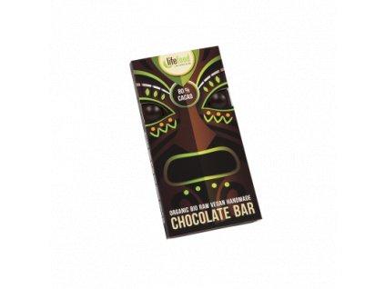 Čokoláda velká BIO RAW 80 % kakaa 70 g LIFEFOOD