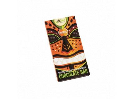 Čokoláda velká BIO RAW pomerančová 70 g LIFEFOOD