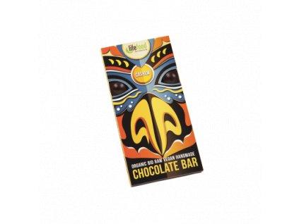 Čokoláda velká BIO RAW s kešu ořechy 70 g LIFEFOOD