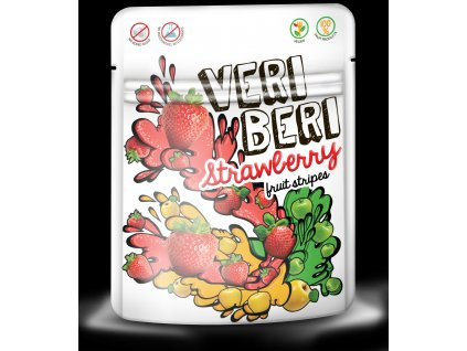 Ovocné stripsy jahoda Veri Beri 50 g