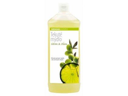 Mýdlo tekuté Citron – Oliva náplň SODASAN 1 l