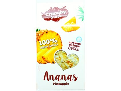 Ovoce lyofilizované ananas kousky 20 g CRUNCHY SNACK