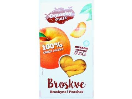 Ovoce lyofilizované broskve plátky 15 g CRUNCHY SNACK