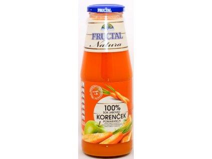Šťáva z mrkve jablek a pomeranče 100% 0,7 l FRUCTAL
