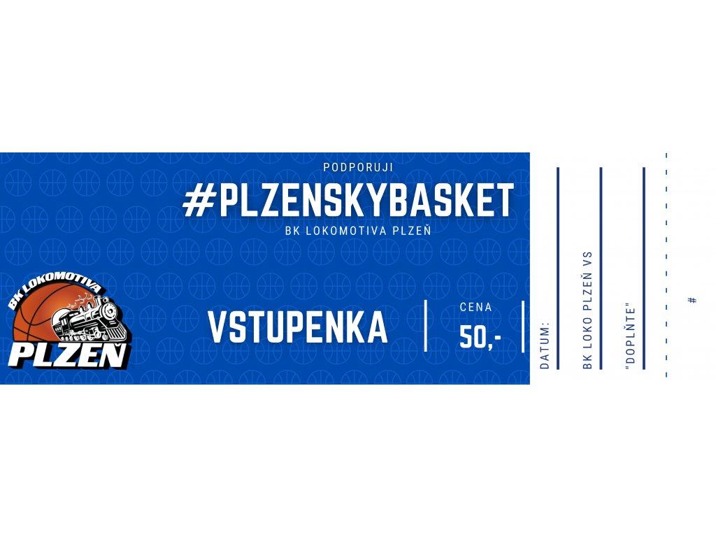 A-tým Vstupenka  - BK Loko Plzeň X GBA Sojky Pelhřimov
