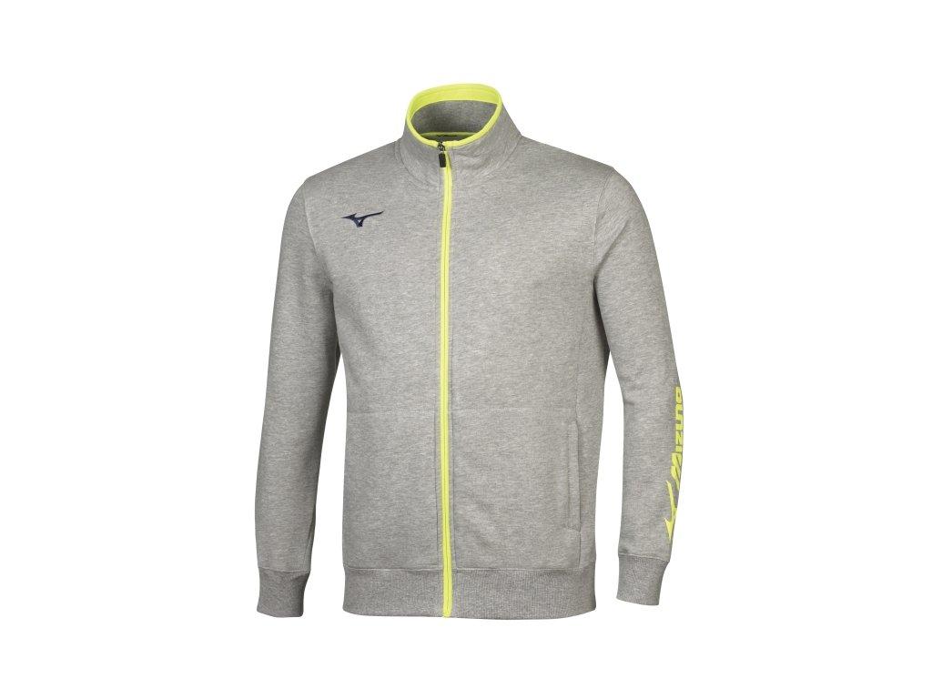 men sweat fz jacket heather grey navy