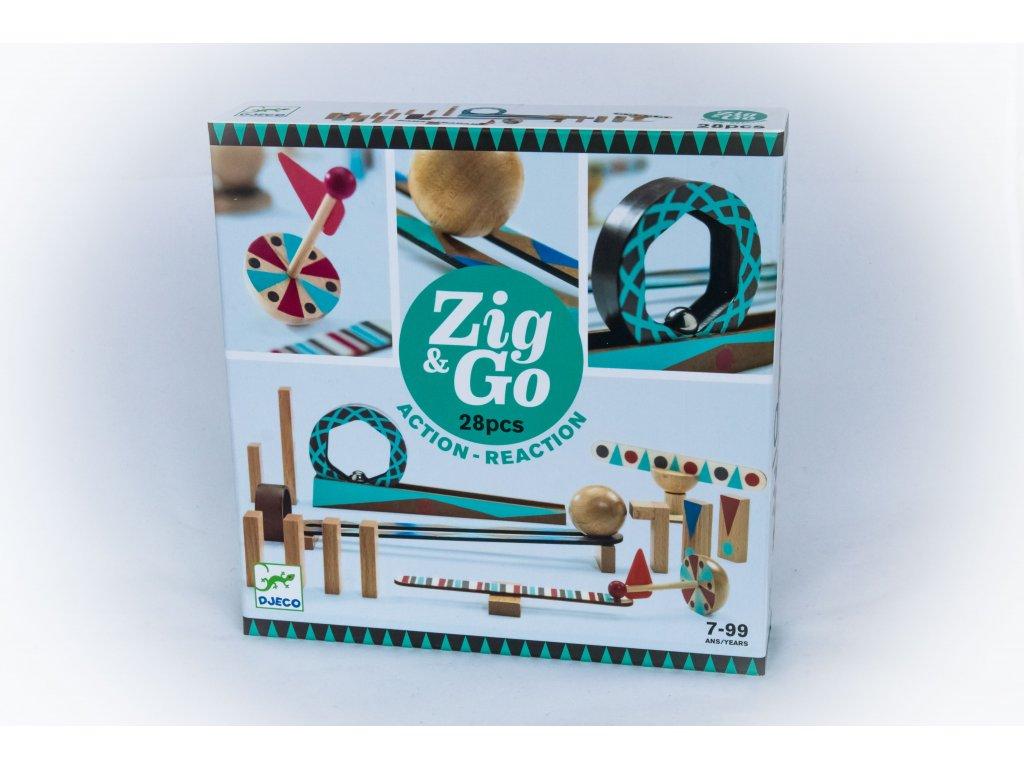 Dřevěná dráha ZIG GO