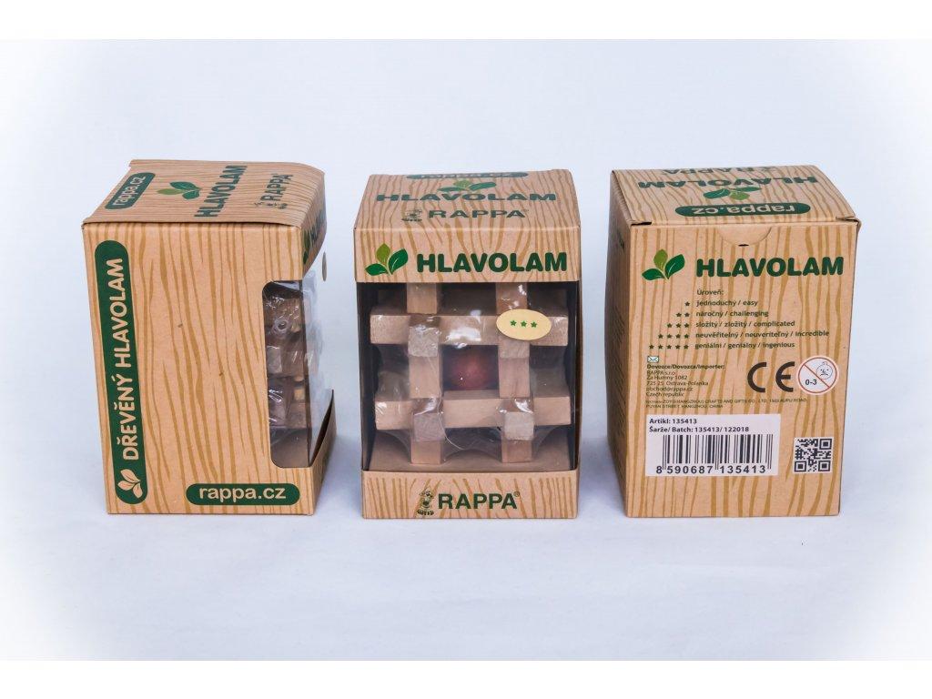 Dřevěný hlavolam - varianta 2