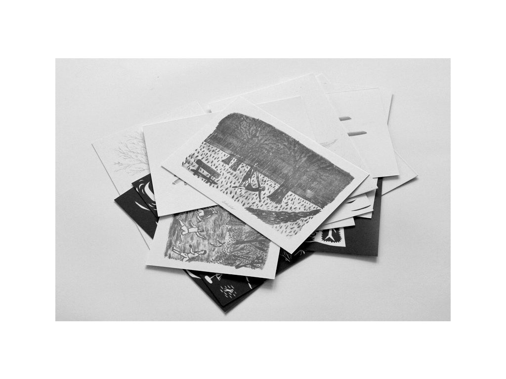2093 anna plestilova sada 13ti pohlednic