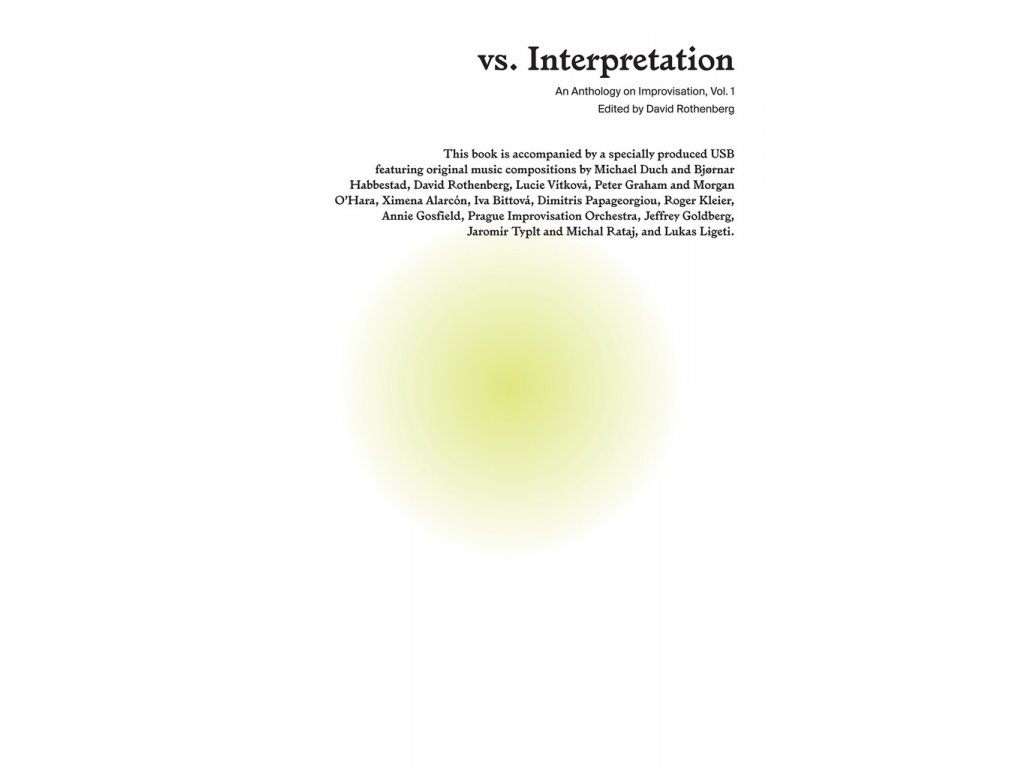 9578 vs interpretation an anthology on improvisation vcetne usb
