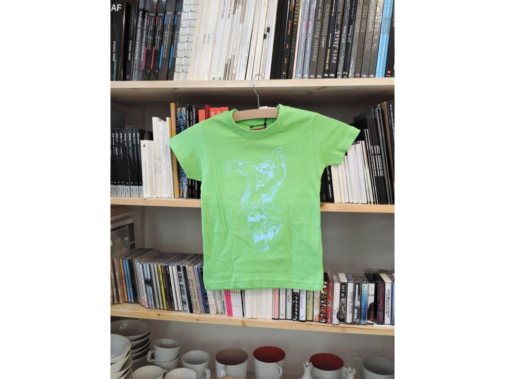 12971 tricko hulk ii svetle zelene dite 3 4 roky black fabric