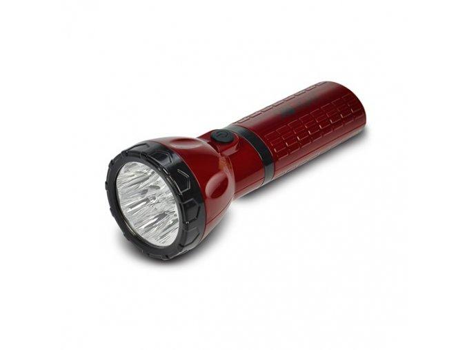 10028 solight wiederaufladbare led lampe plug in 800mah pb 9x led rot schwarz