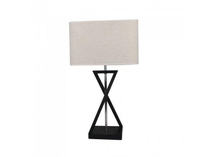 10313 designer tischlampe e27 elfenbein schirm schwarz basisschater quadratisch