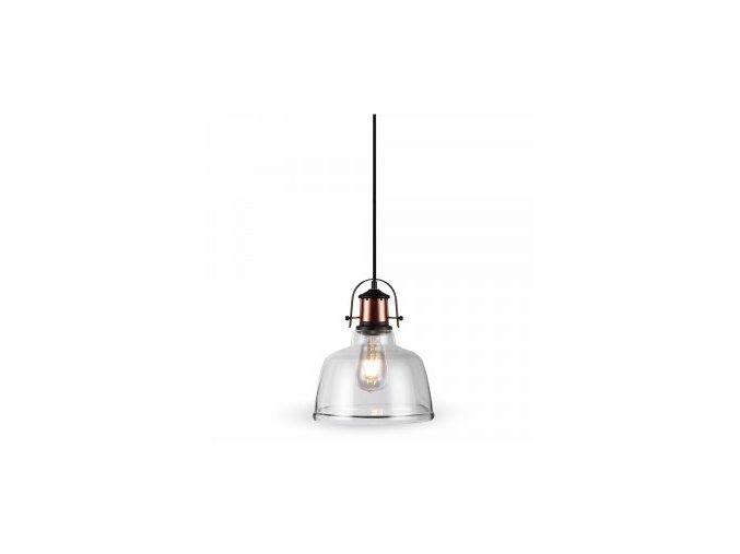1085 glas hangelampe transparent schwarz canopy
