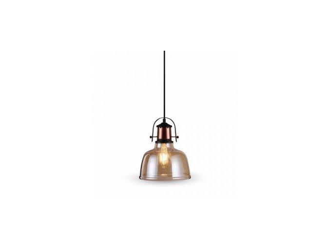 1088 glas shade bernstein hangelampe schwarz fabric kabel