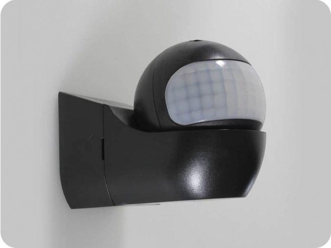 1235 pir wand sensor mit beweglichem kopf schwarz