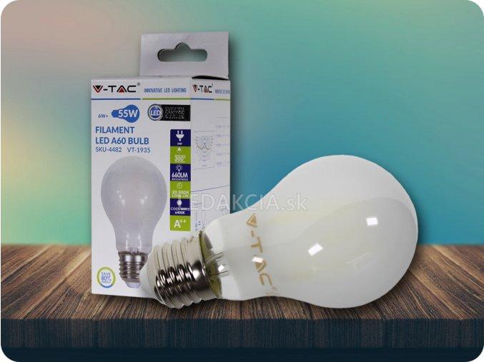 LED Glühbirne - 6W Filament E27 A60 Frost Abdeckung (Lichtfarbe Kaltweiß)