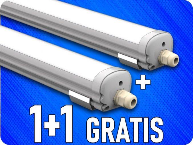 LED Wannenleuchte Lampe 18W, 60cm, 1440Lm, IP65, 1+1 gratis!