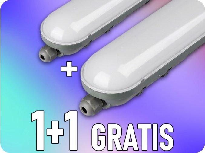 LED Wasserleuchte Lampe 48W, 4000lm, 1500mm, 1+1 gratis!