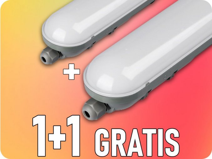 Wasserleuchte LED-Lampe 18W, 1400lm, IP65, 60cm, 1+1 gratis!