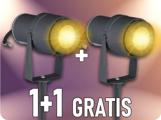Gartenlampe 12W, 720 lm, IP65, 1+1 gratis!