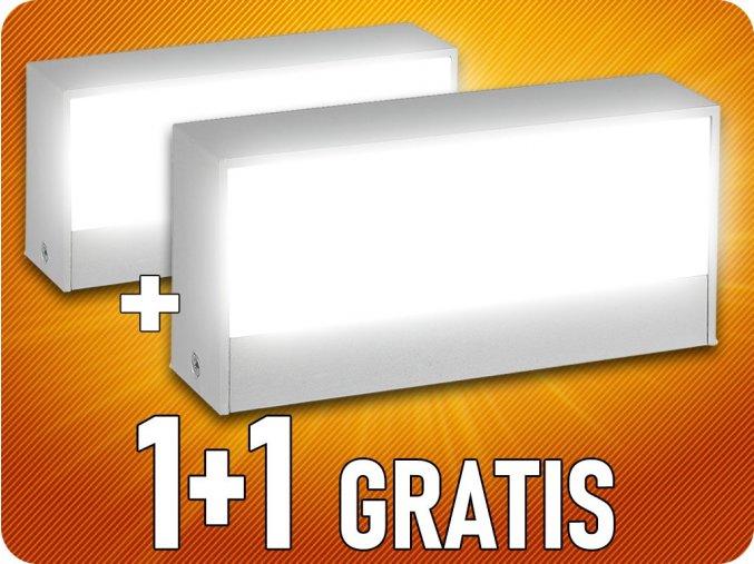 9W LED Wandleuchte, UP & DOWN, grau, IP65, 1+1 gratis!