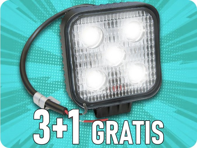 LED Arbeitslicht 5x3W, mini, 3+1 gratis!