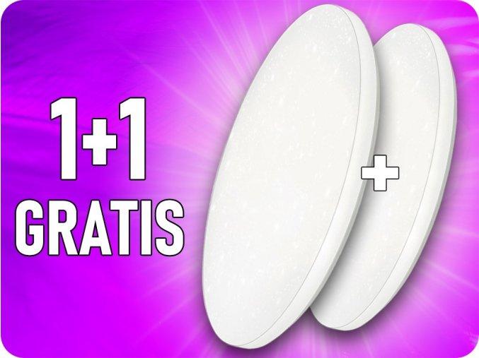 LED Deckenleuchte 12W (720lm), Stern, Farbwechsel 3000K-6000K, 1+1 gratis!