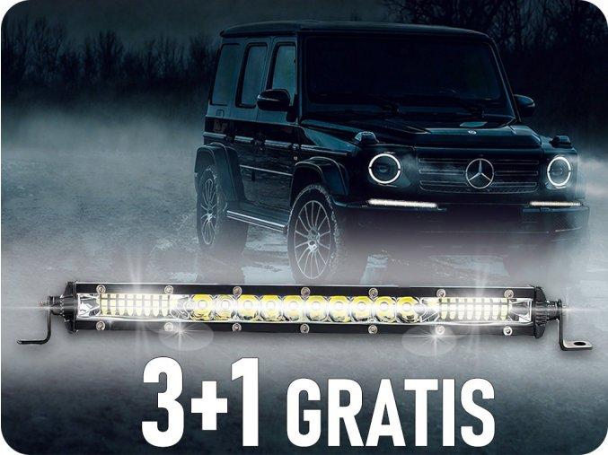 LED-Arbeitsleuchte 36W, 1600LM, 12/24V, 24xLED, 3+1 gratis!