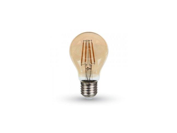 5648 led gluhbirne samsung chip filament 4w e27 a60 bernstein abdeckung 2200k